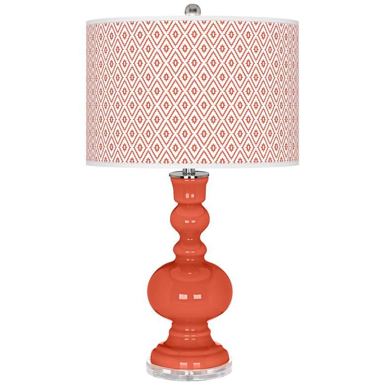Daring Orange Diamonds Apothecary Table Lamp