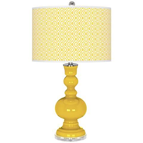 Citrus Diamonds Apothecary Table Lamp