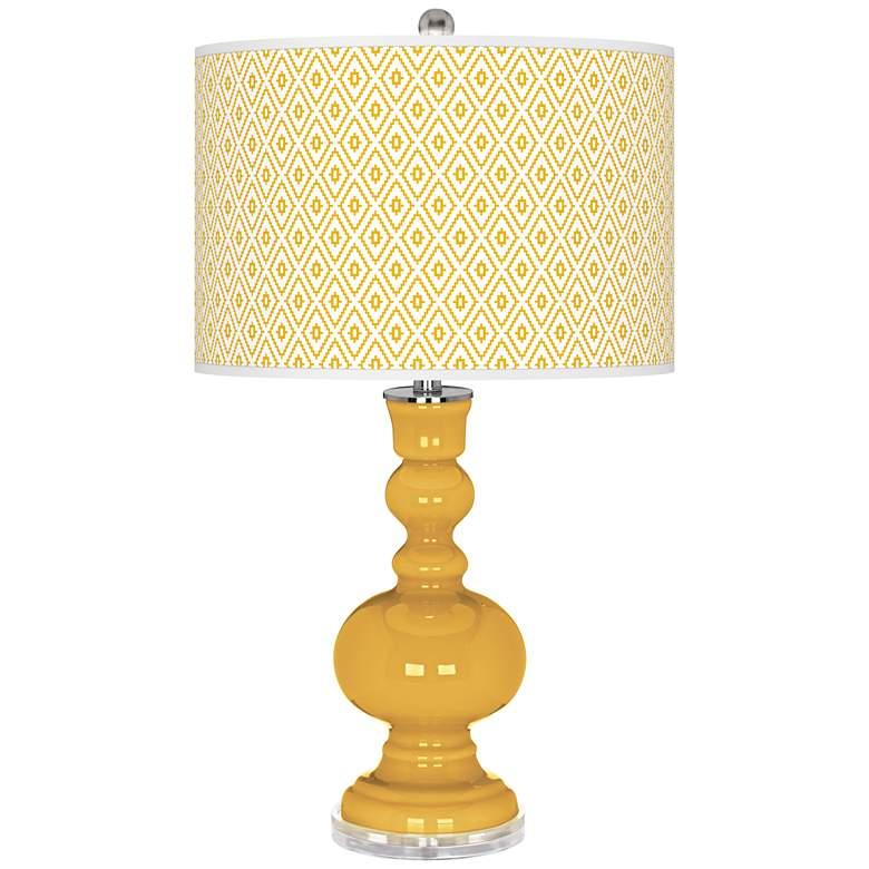 Goldenrod Diamonds Apothecary Table Lamp
