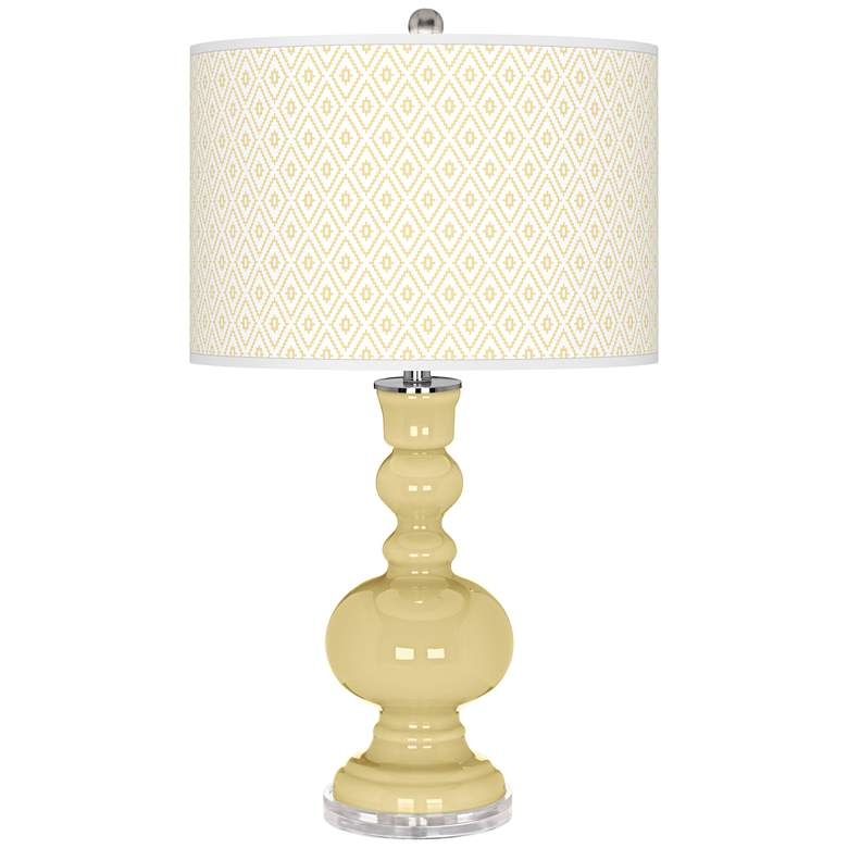 Butter Up Diamonds Apothecary Table Lamp
