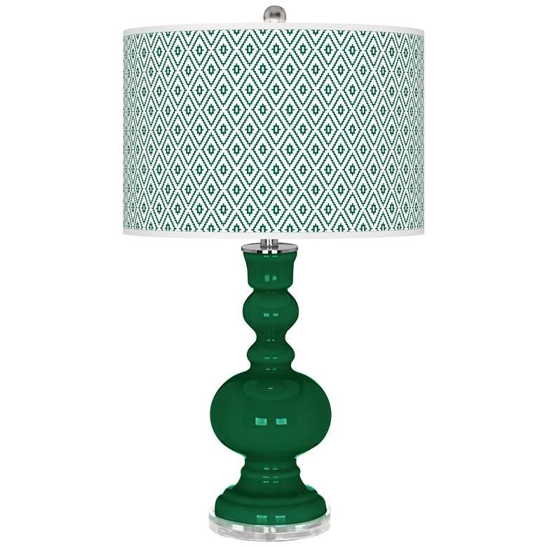 Greens Diamonds Apothecary Table Lamp