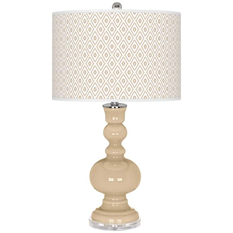 Colonial Tan Diamonds Apothecary Table Lamp