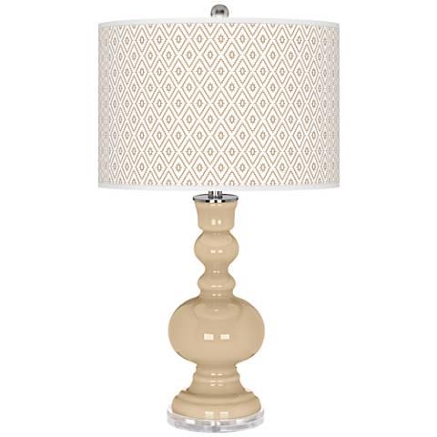 Colonial Tan Diamonds Apothecary Table Lamp