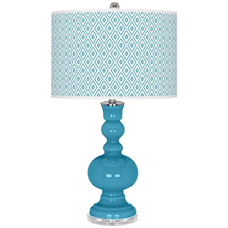 Jamaica Bay Diamonds Apothecary Table Lamp