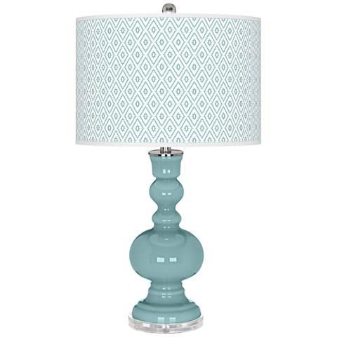 Raindrop Diamonds Apothecary Table Lamp