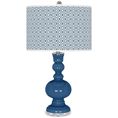 Regatta Blue Diamonds Apothecary Table Lamp