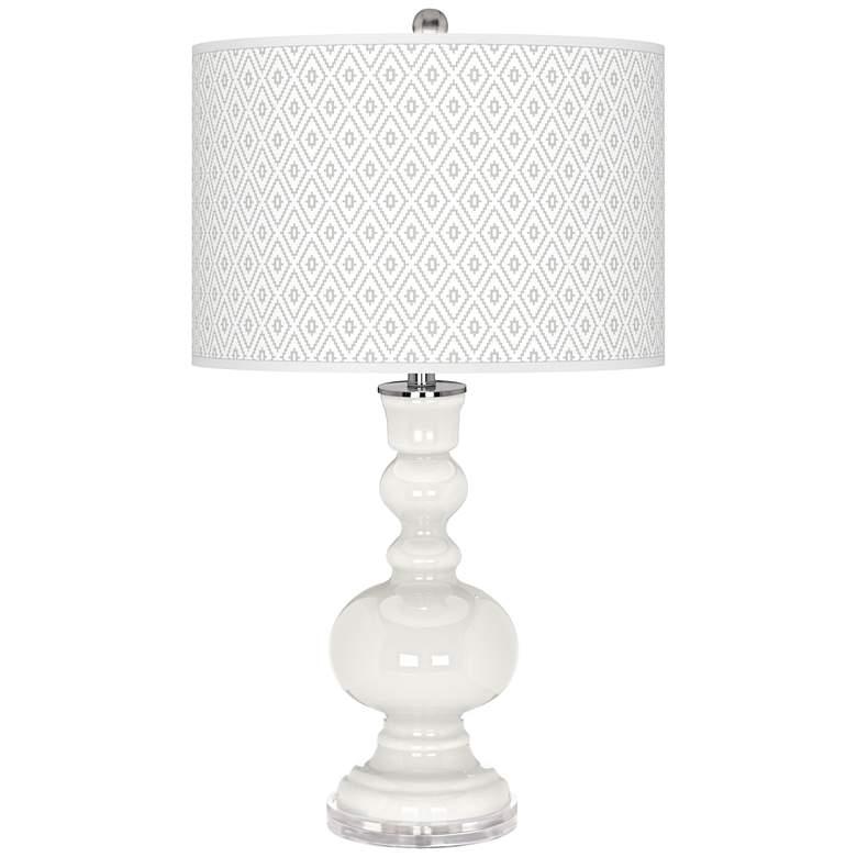 Winter White Diamonds Apothecary Table Lamp