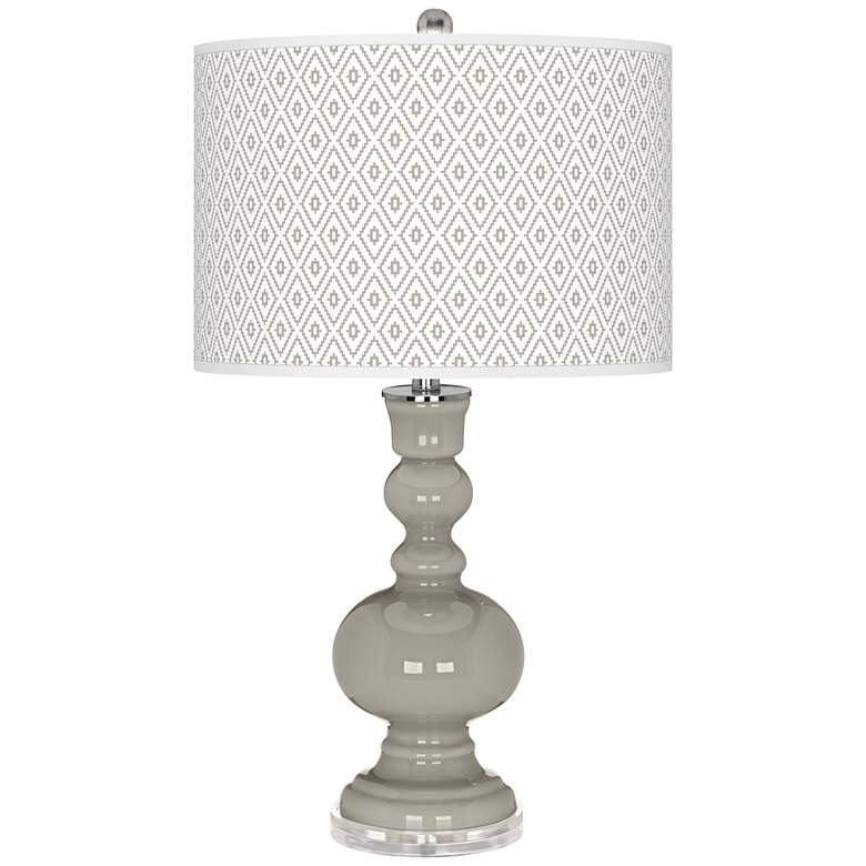Requisite Gray Diamonds Apothecary Table Lamp
