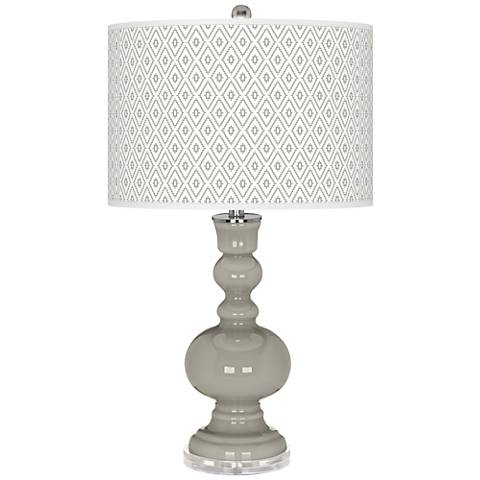 Requisite Gray Diamonds Apothecary Table Lamp