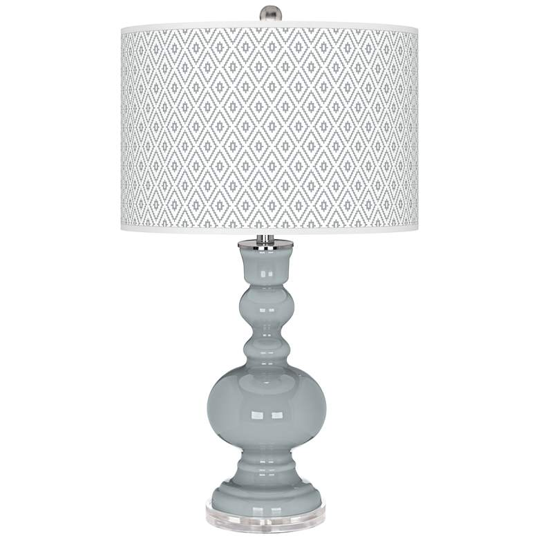Uncertain Gray Diamonds Apothecary Table Lamp