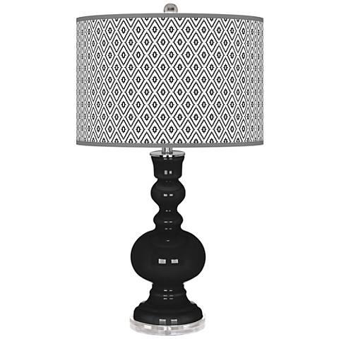 Tricorn Black Diamonds Apothecary Table Lamp