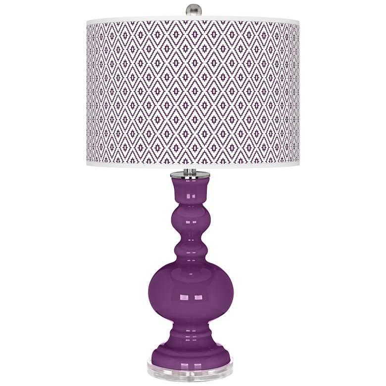 Kimono Violet Diamonds Apothecary Table Lamp