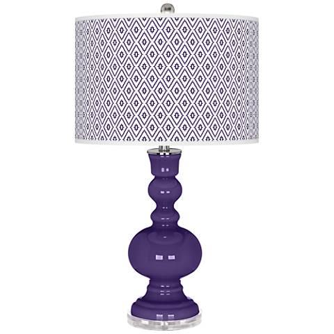 Izmir Purple Diamonds Apothecary Table Lamp