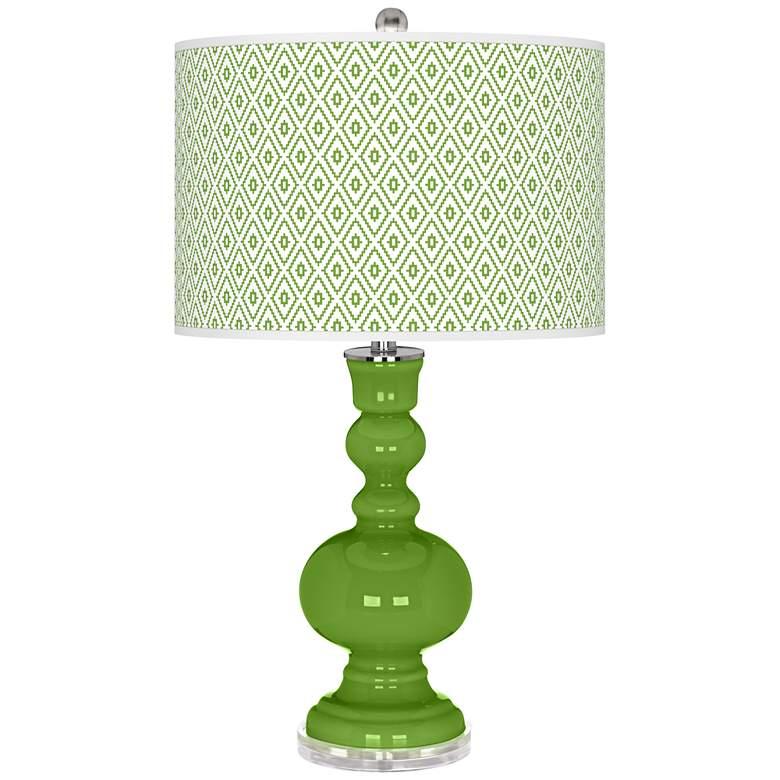Rosemary Green Diamonds Apothecary Table Lamp