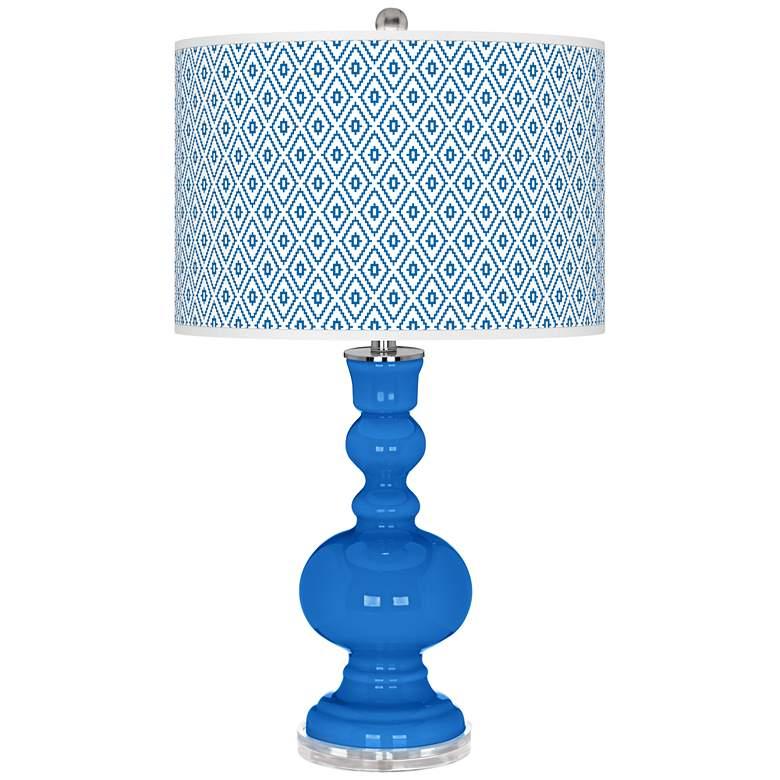Royal Blue Diamonds Apothecary Table Lamp