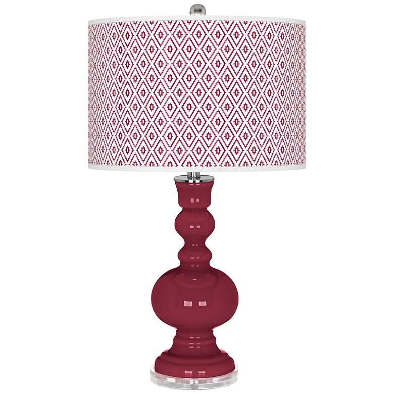 Antique Red Diamonds Apothecary Table Lamp
