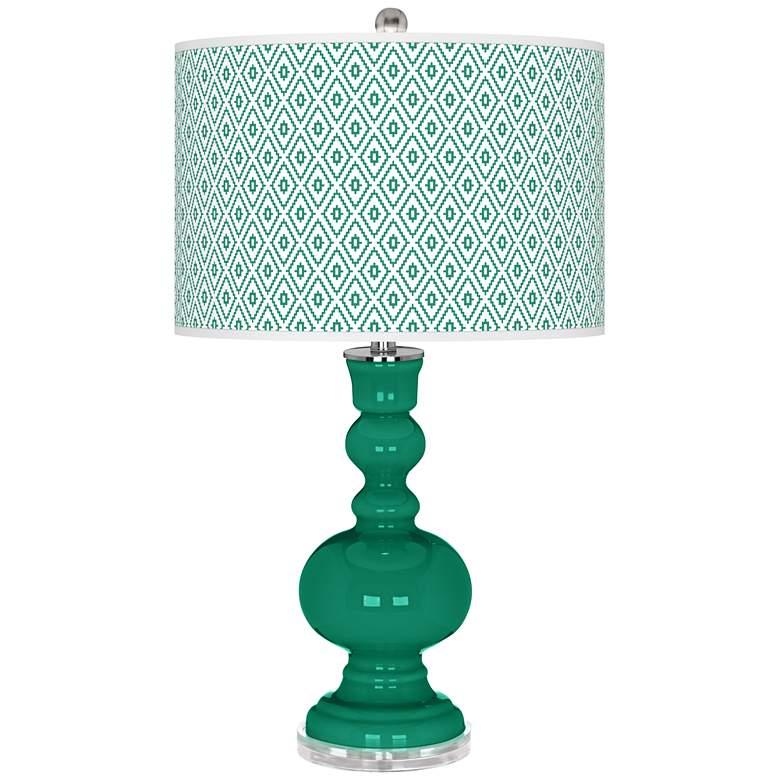 Emerald Diamonds Apothecary Table Lamp