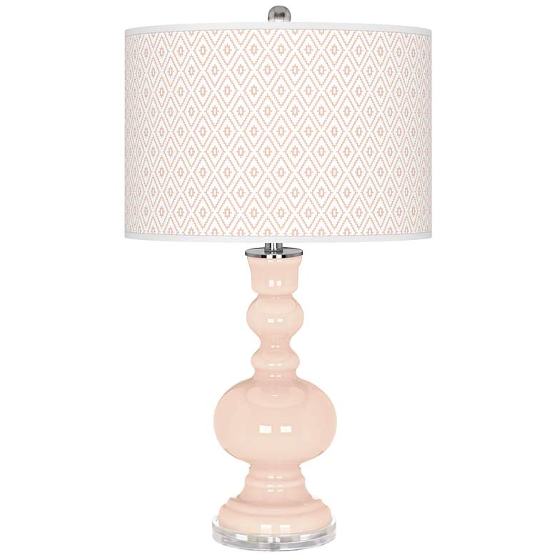 Linen Diamonds Apothecary Table Lamp