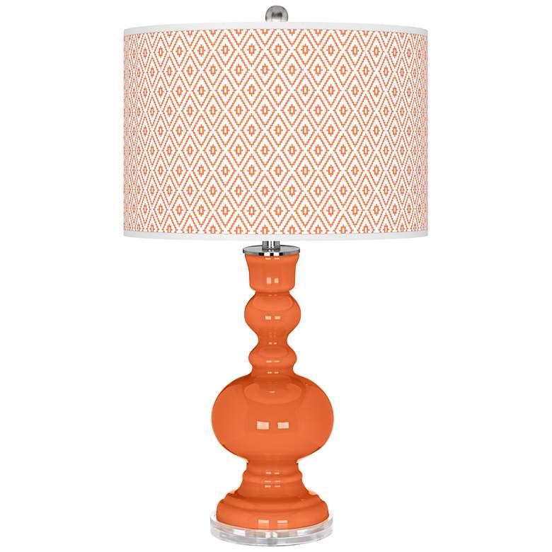Nectarine Diamonds Apothecary Table Lamp