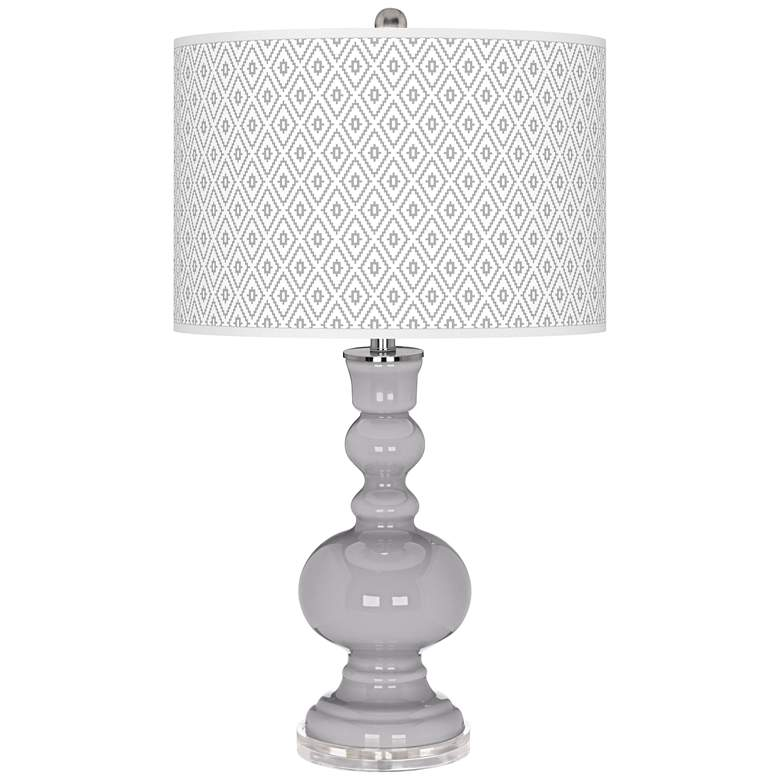Swanky Gray Diamonds Apothecary Table Lamp
