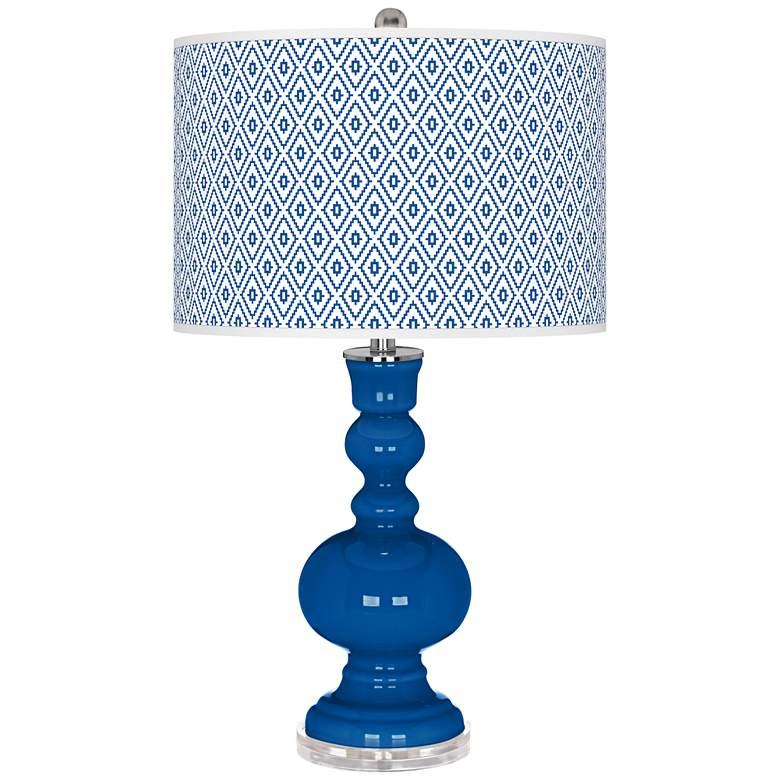 Hyper Blue Diamonds Apothecary Table Lamp