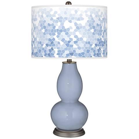Blue Sky Mosaic Giclee Double Gourd Table Lamp