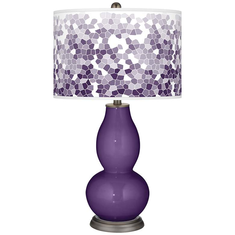 Acai Mosaic Giclee Double Gourd Table Lamp