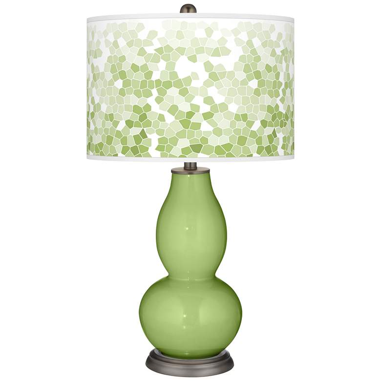 Lime Rickey Mosaic Giclee Double Gourd Table Lamp