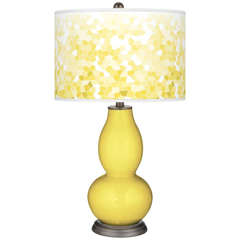 Lemon Twist Mosaic Giclee Double Gourd Table Lamp