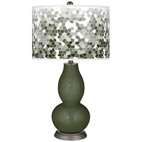 Secret Garden Mosaic Giclee Double Gourd Table Lamp