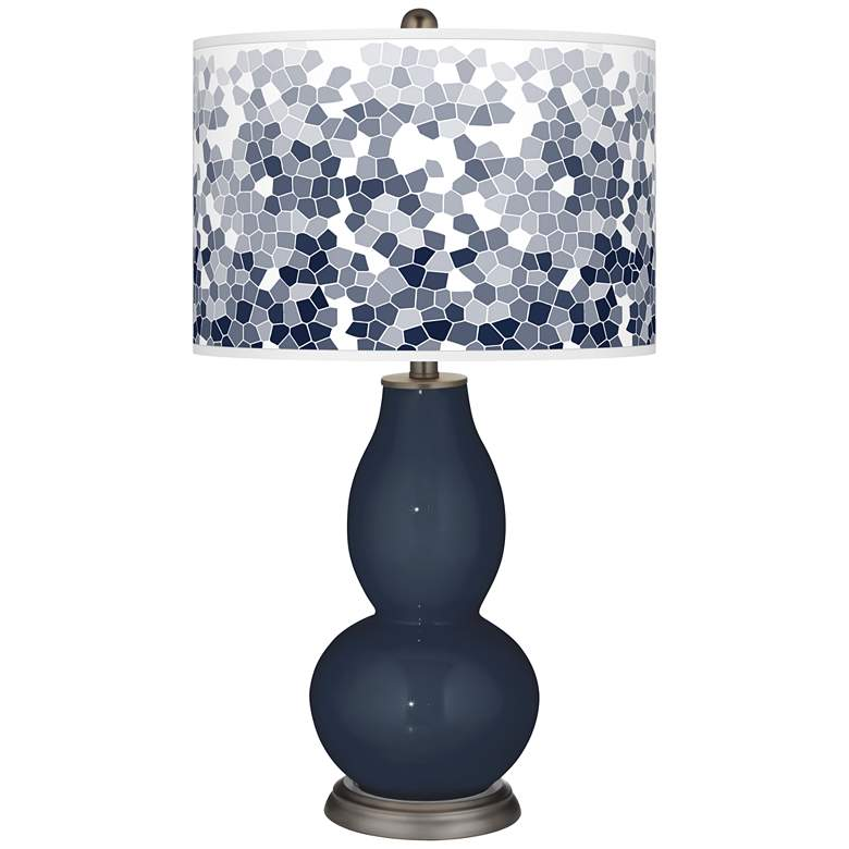Naval Mosaic Giclee Double Gourd Table Lamp