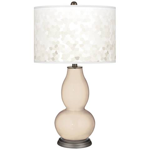 Steamed Milk Mosaic Giclee Double Gourd Table Lamp