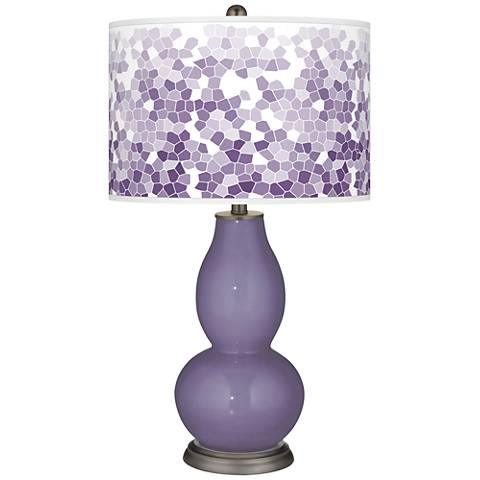 Purple Haze Mosaic Giclee Double Gourd Table Lamp