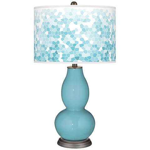 Nautilus Mosaic Giclee Double Gourd Table Lamp