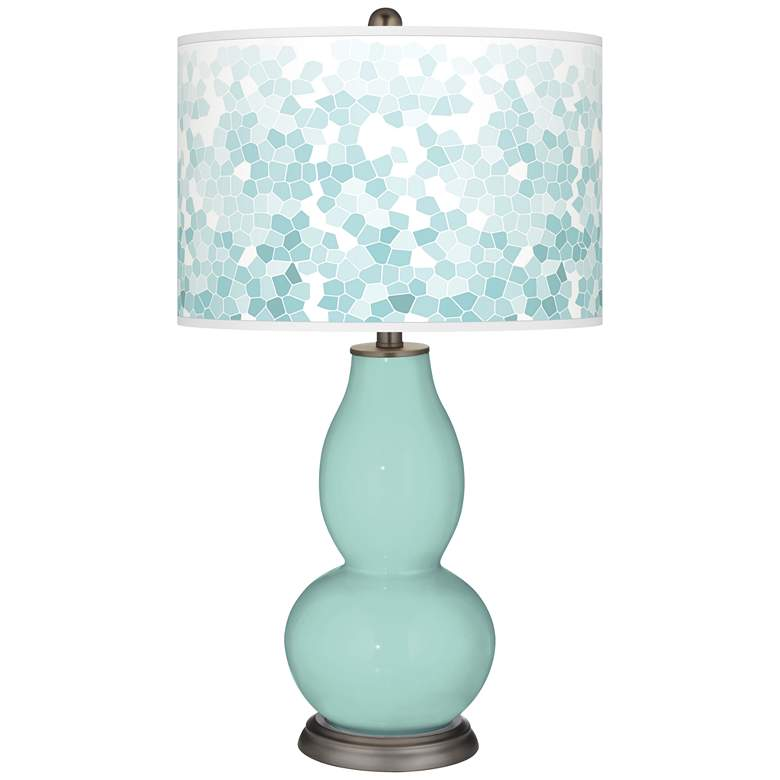 Cay Mosaic Giclee Double Gourd Table Lamp