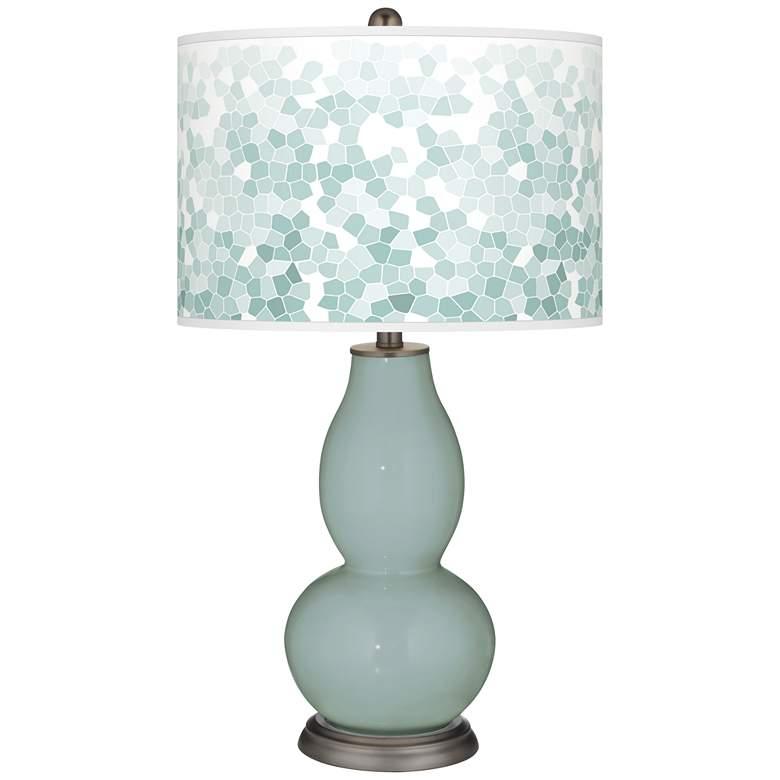 Aqua-Sphere Mosaic Giclee Double Gourd Table Lamp