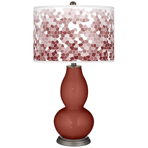 Madeira Mosaic Giclee Double Gourd Table Lamp