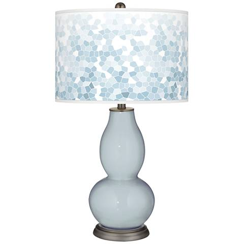Take Five Mosaic Giclee Double Gourd Table Lamp