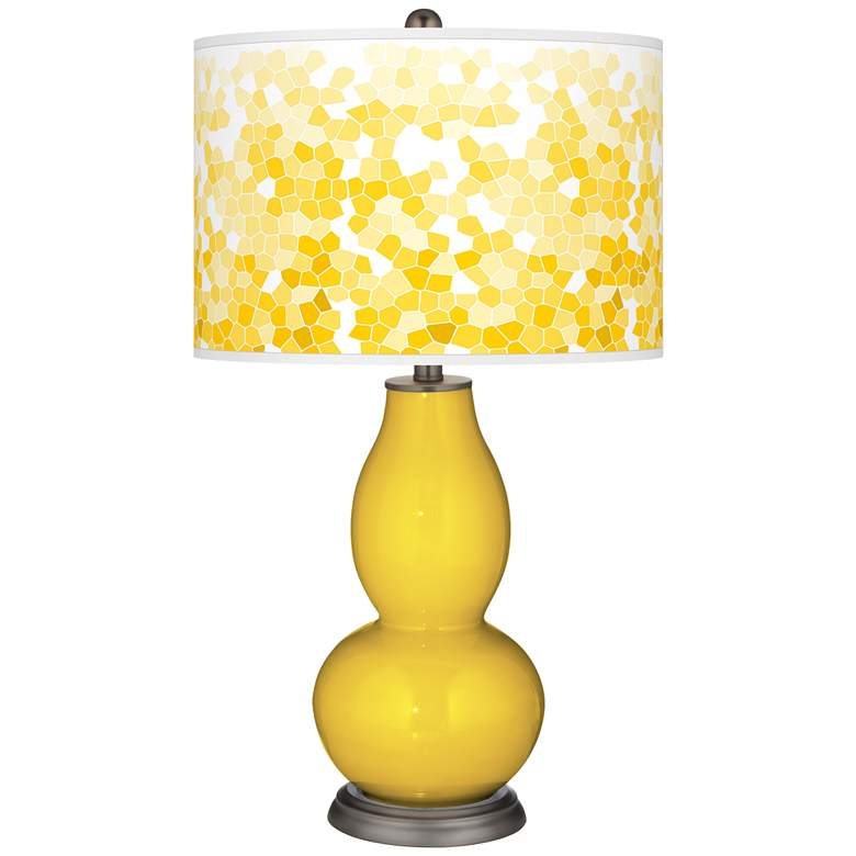 Citrus Mosaic Giclee Double Gourd Table Lamp