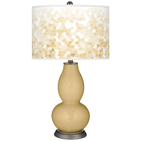 Humble Gold Mosaic Giclee Double Gourd Table Lamp