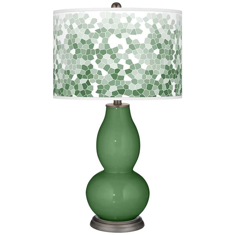 Garden Grove Mosaic Giclee Double Gourd Table Lamp