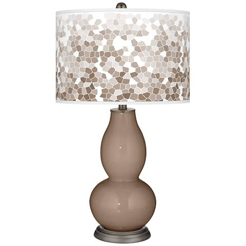 Mocha Mosaic Giclee Double Gourd Table Lamp
