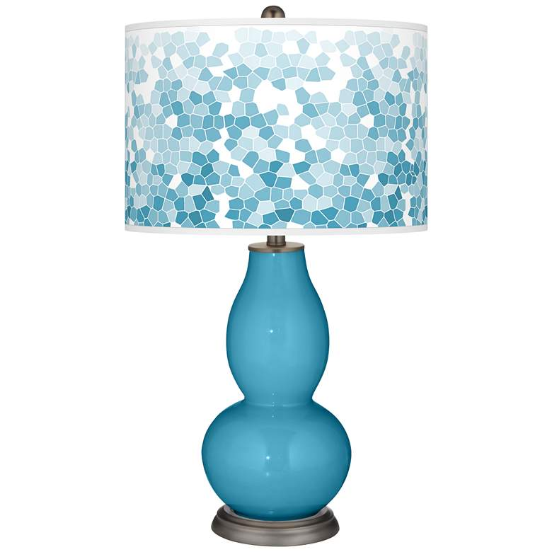Jamaica Bay Mosaic Giclee Double Gourd Table Lamp
