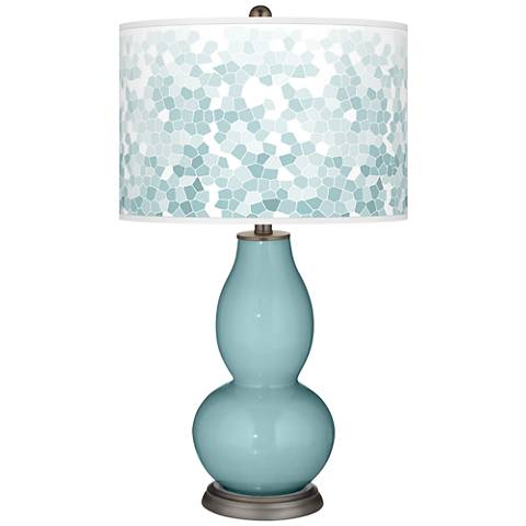 Raindrop Mosaic Giclee Double Gourd Table Lamp