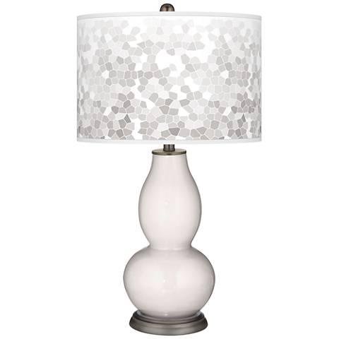 Smart White Mosaic Giclee Double Gourd Table Lamp