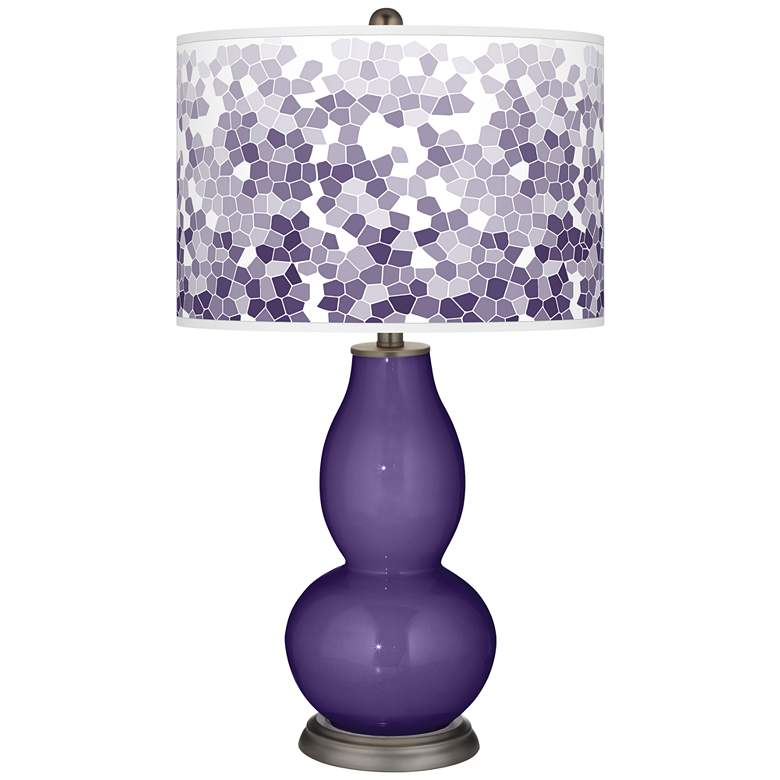 Izmir Purple Mosaic Giclee Double Gourd Table Lamp