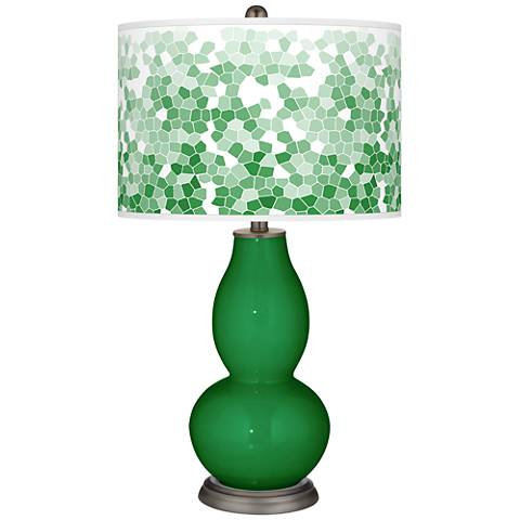 Envy Mosaic Giclee Double Gourd Table Lamp