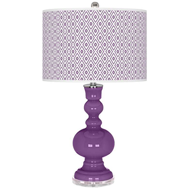 Passionate Purple Diamonds Apothecary Table Lamp
