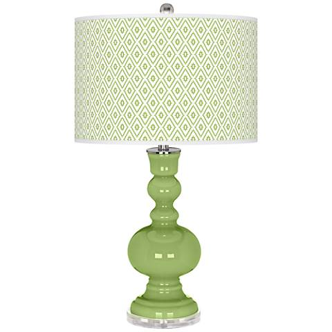Lime Rickey Diamonds Apothecary Table Lamp