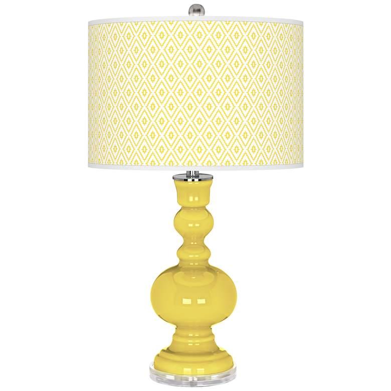 Lemon Twist Diamonds Apothecary Table Lamp